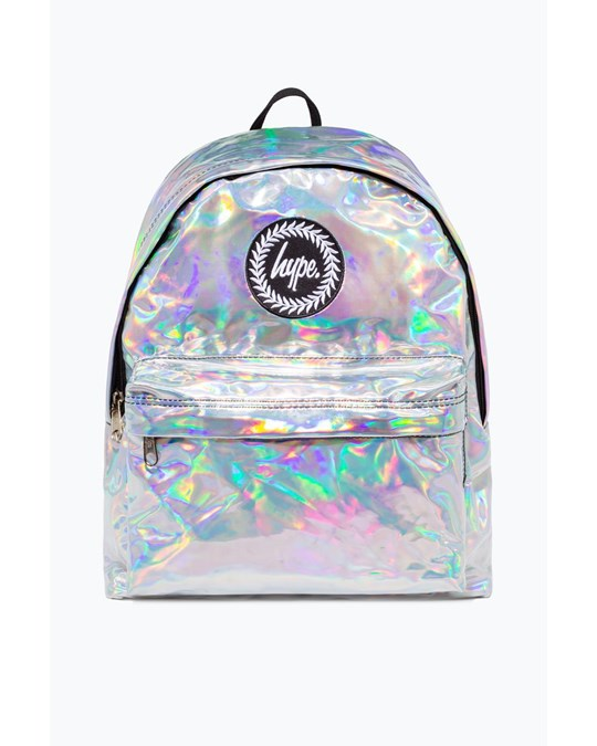 Hype Hype Grey Holographic Backpack