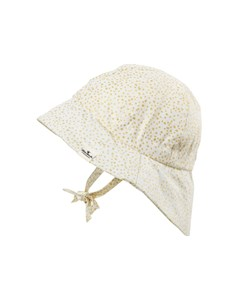 Gold Shimmer Hat White/gold