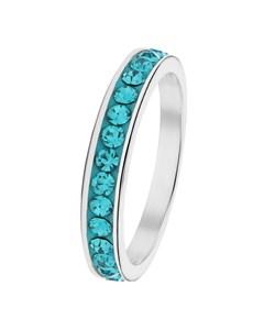 Stalen Kinderring Blue Zircon Kristal