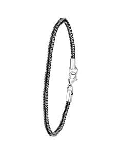 Gliederarmband für Jungen aus schwarz beschichtetem Stahl
