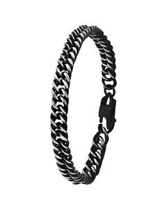 Jungenarmband aus schwarz beschichtetem Stahl mit Gourmet-Kettenglied