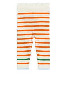 Pima Cotton Leggings Off White/orange