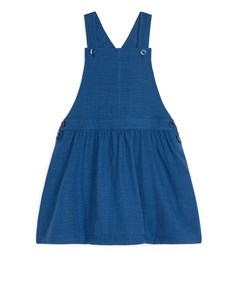 Natural Dye Dungaree Cotton Dress Dark Blue