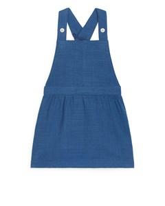 Natural Dye Bib Dress Dark Blue