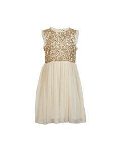 Dress Sequins Gold