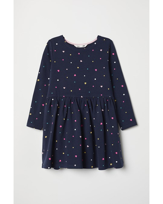 H&M Linnea Long Sleeve Dress Blue