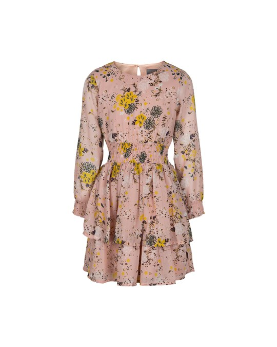 Creamie Dress Printed Chiffon Rose Smoke