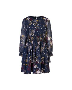 Dress Printed Chiffon Total Eclipse