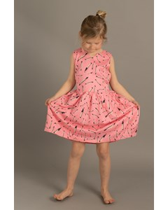 Em Sandy Dress Kids Feather Pink