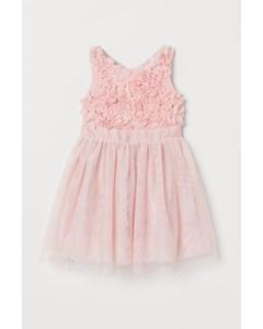 Glittrig Tyllklänning Ljusrosa
