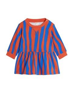 French Terry Dress Blue/orange
