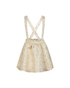 Skirt Brocade Leo Buttercream