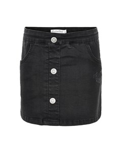 Denim Skirt-anthracite