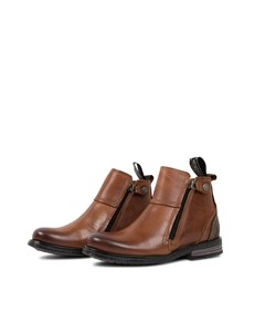 Heron Kids Leather S Dk Cognac
