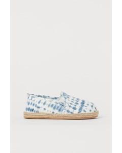 Espadrillos Ljusblå/batikmönstrad