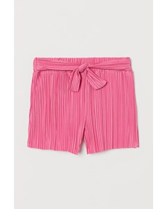 Plisserade Shorts Rosa