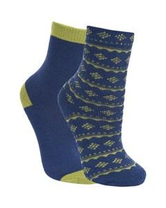 Trespass Childrens Boys Hosie Two Tone Casual Socks (2 Pairs)