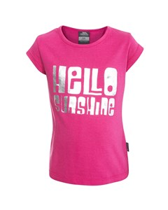 Trespass Childrens Girls Hello Short Sleeve T-shirt