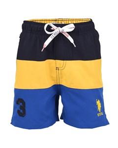 Cut & Sew Swim Short Navy