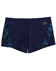 Curve Panel Boxer Swim Shorts