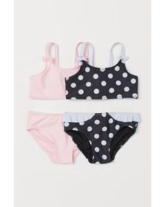2-pack Bikini Svart/prickig