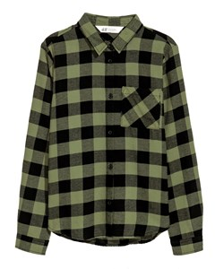 Cotton Flannel Shirt Khaki