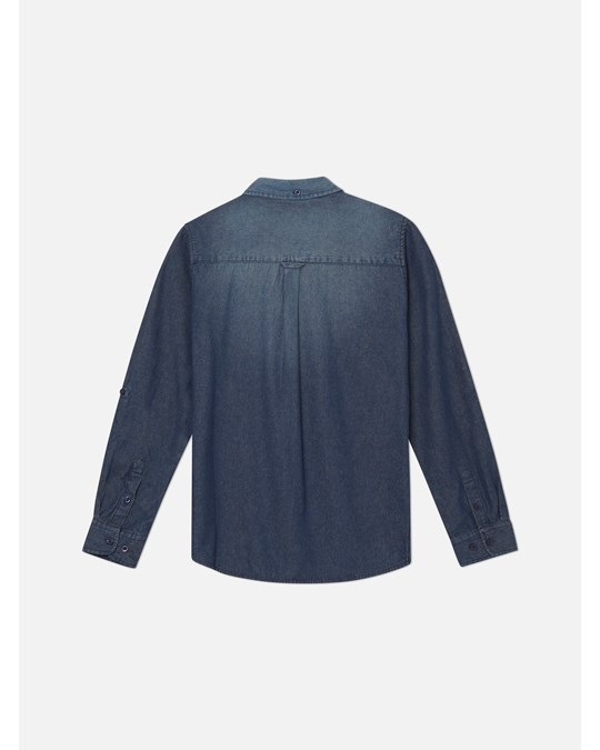WESC Oden Denim Jr L/s Shirt Regular Fi