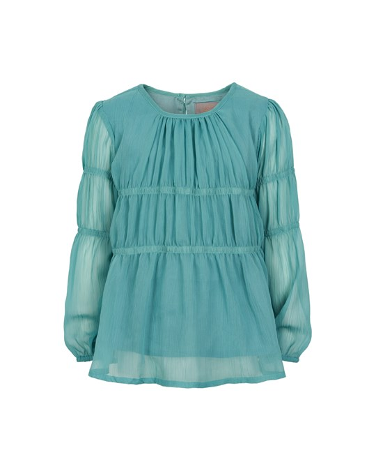 Creamie Blouse Chiffon Smoke Blue