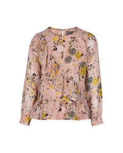 Blouse Printed Chiffon Rose Smoke
