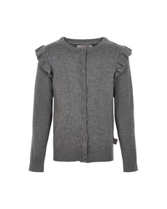 Cardigan Knit Mid Grey Melange