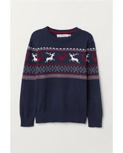 Nico Jaquard Sweater Blue