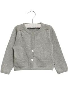 Knit Cardigan Ibi Melange Grey