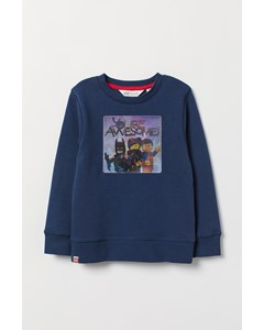 Rosebowl Fancy Crewneck Blue