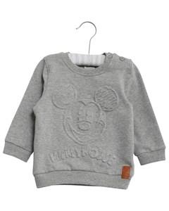 Sweatshirt Mickey Embossed Melange Grey