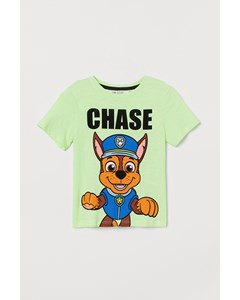 T-shirt Med Tryck Neongrön/paw Patrol