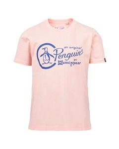 Circle Penguin Logo Tee Ss Pale Pink