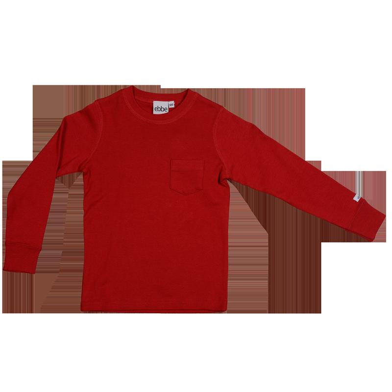 Eskil T-shirt L s Red - Långärmad tröja med mudd i ärmslut samt b675495eeff77