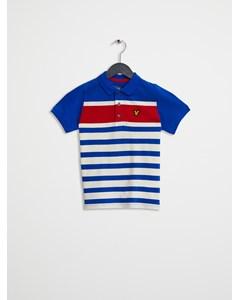Yarn Dye Stripe Polo Lake Blue