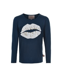 T-shirt Lips Sequins Ls Cloud