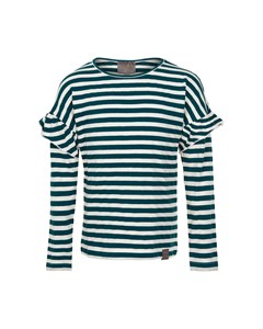 T-shirt Stripe Ls Bistro Green