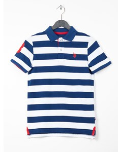 Y/d Stripe Polo Estate Blue