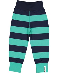 Wide Striped Pant Greenturq/marine