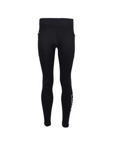 Iridescent Zipper Legging Black