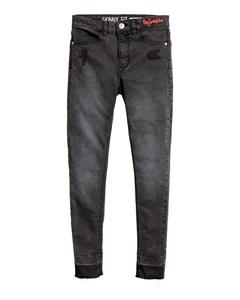 Twill Trousers Skinny Fit Black