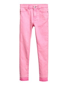 Twill Trousers Skinny Fit Pink