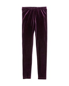 Velour Leggings Purple