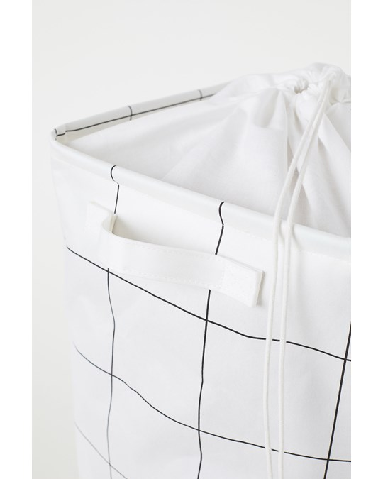H&M HOME Square Laundry Bag White