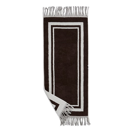 Birger 1962 Valladolid Towel, Small Brown And Creme