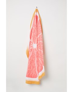 Grape Round Beachtowel 70x140 Cm Orange