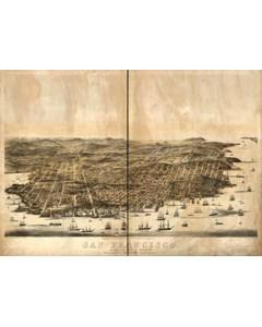 Karta San Francisco 1864